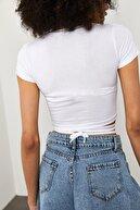 Xena Kadın Beyaz Bağcıklı T-Shirt 1YZK2-11757-01