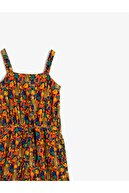 Koton Kız Çocuk Turuncu Desenli Tulum