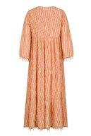 Nocturne Kadın Pudra Saçaklı Balon Kol Elbise