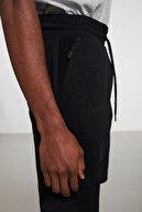 GRIMELANGE CAMILLO Siyah Yanları Fermuarli Cepli Beli Kordonlu İnterlok Kumaşlı Şort