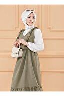 TOFİSA Kadın Haki Jile Elbise