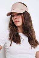 Trend Alaçatı Stili Kadın Bej Tenis Şapkası ALC-A2197