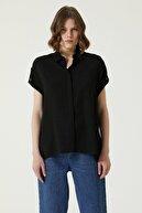 Network Kadın Basic Fit Siyah Gömlek 1079509