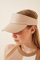 Happiness İst. Kadın Krem Ayarlanabilir  Bantlı Tenis Şapkası PD00027