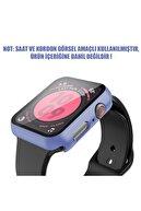 Apple Microsonic Watch Series 4 44mm Kılıf Matte Premium Slim Watchband Lila