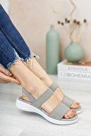 Riccon Kadın Gri Sandalet 0012600