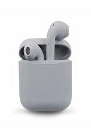 TrkTech Airpods 2.nesil I12 Gri Bluetooth Kulaklık Tüm Telefonlar Ile Uyumlu 1. Kalite
