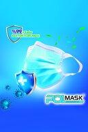 PolMask Maske Yeni Nesil 3 Katlı Meltblown 'lu | Tek Tek Steril Paketli | 50 Adet (Yeşil)
