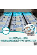 PolMask Maske 3 Katlı Meltblown 'lu | Tek Tek Steril Paketli |50 Adet (Mavi)