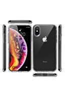 NewFace Apple Iphone X/xs Lüx Şeffaf Silikon Kılıf + Ekran Koruyucu Kırılmaz Cam