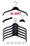 Askıcı Plastik Elbise Askısı Çentikli Döner Başlıklı Kıyafet Askı 36 Adet