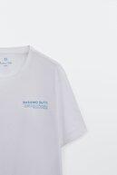 Massimo Dutti Erkek %100 Pamuklu Kısa Kollu T-Shirt 01426275