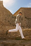 Massimo Dutti Erkek Slım Fıt 100% Lınen Blazer 02061272