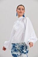 Y-London Kadın Beyaz Uzun Kollu Bluz YL-BL99838