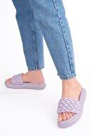 Marjin Kadın lila Dolgu Topuk Terlik Fingo
