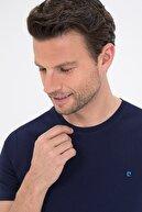 Pierre Cardin Lacivert Slim Fit Bisiklet Yaka Basic T-Shirt