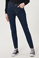 Lee Kadın Koyu Mavi Scarlett High Skinny Fit Denim Esnek Jean Kot Pantolon