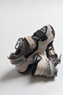 luvishoes Kadın Siyah Vizon Bantlı Spor Ayakkabı 65140