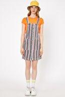 Koton Kadın Mavi Askılı Düğme Detaylı Cep Detaylı Midi Elbise 9YAL81007MW
