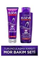 Elseve Turunculaşma Karşıtı Mor Saç Bakım Seti -Mor Şampuan 200ml + Renk Düzeltici Saç Maskesi 150ml