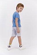 US Polo Assn Erkek Çocuk Lisanslı Soluk Mavi  Bermuda Takım