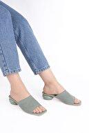 Marjin Kadın Yeşil  Triko Topuklu Terlik Naleryeşil