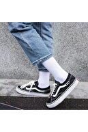 İkonik Socks 6'lı Düz Beyaz Kolej Çorap