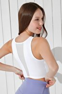 Penti Kadın Beyaz Mesh Detailed Long Sütyen