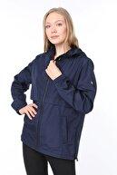 Ghassy Co Kadın Lacivert Yırtmaç Detaylı Mevsimlik Spor Ceket