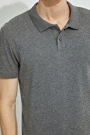 Koton Erkek Antrasit Polo Yaka T-Shirt