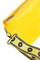 Bakras Sarı Papatya Desenli Yarı Şeffaf Organizer Plaj Çantası