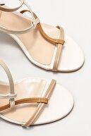 Elle Kadın Bej Topuklu Sandalet