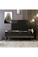 Minar Colin Tv Ünitesi Soft - Parlak Royal Mermer/Parlak Siyah