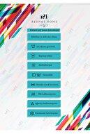 Reyndi Home Yıkanabilir Kaymaz Taban Dijital Baskılı Gökkuşağı Desen Kapı Önü Paspası