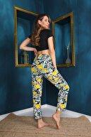 Arvin Kadın Karakter Baskılı Pijama Altı