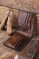 New Coast Leather 1900's Erkek Hakiki Deri El Yapımı Deri Cüzdan