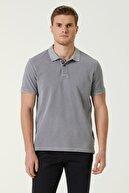 Network Erkek Comfort Fit Gri Polo Yaka T-shirt 1078122