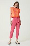 Network Kadın Basic Fit Turuncu Desenli Sweatshirt 1079821