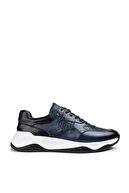 Deery Hakiki Deri Mavi Sneaker Erkek Ayakkabı