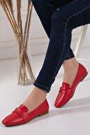 Mitto Kadın Kırmızı Günlük Ayakkabı- Loafer Babet-012