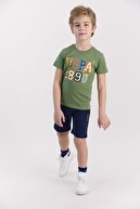 US Polo Assn Erkek Çocuk Haki Bermuda Takım