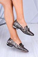 Venüs Kadın Platin Topuklu Ayakkabı