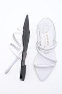 Marjin Kadın Beyaz Önü Açık Sandalet