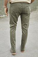 Sateen Men Erkek Haki Yıkamalı Pamuk Pantolon