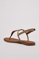 Trendyol Shoes Vizon Zımba Detaylı Kadın Sandalet TAKSS21SD0007