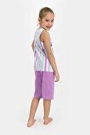 US Polo Assn Kız Çocuk Beyaz Kapri Takım Us874