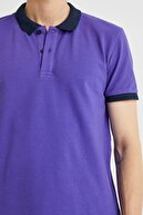Koton Erkek Mor Polo Yaka T-Shirt