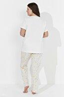 Penti Kadın Beyaz Bath Tea Pantolon Takımı