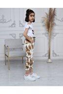 Pomegranate Kız Çocuk Batik Desen Angel Nakışlı Eşofman Altı