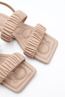 Marjin Kadın Bej Sandalet
